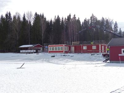 6 mars 2013 - vid Hagavallen började nya klubbstugan ta form.