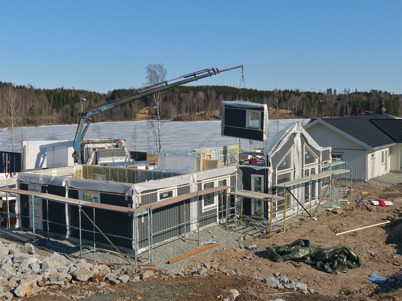 8 april 2013 - på Prästnäset byggdes andra villan.
