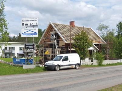 30 maj 2013 - Slussvaktarstugan fick nytt tak.