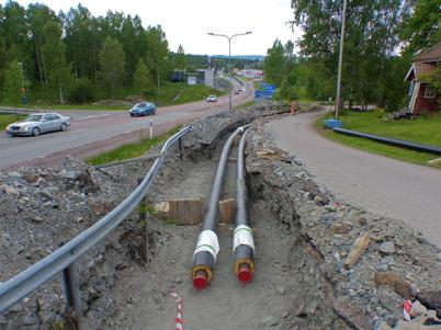 7 juni 2013 - HL Energi fortsatte utbyggnaden av fjärrvärmenätet mot Skärmons industriområde.