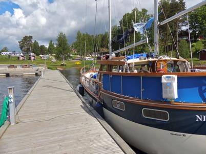 14 juni 2013 - det kom långväga gäster till Båtklubben Rävarnas Gästhamn.