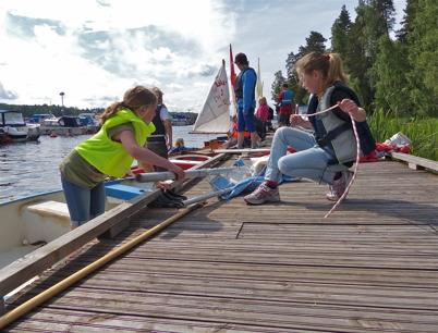 1-5 juli 2013 - i Sandviken arrangerades seglarskola med Göran Nilsson som ledare.