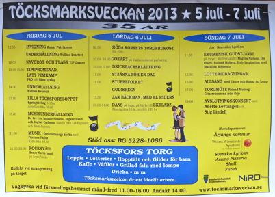 5-7 juli genomfördes Töcksmarksveckan traditionsenligt.