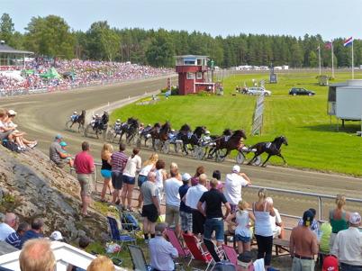 13 juli 2013 - på travbanan i Årjäng var det stor travfest med höjdpunkten Årjängs stora sprinterlopp.