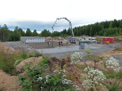 16 juli 2013 - på gamla skidstadion vid Skärmons industrområde startade byggnationen av nya fjärrvärmeentralen.