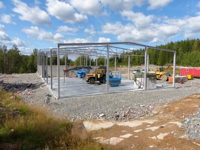 19 augusti 2013 - på gamla skidstadion pågick bygget av nya fjärrvärmecentralen.