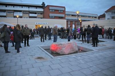 """25 oktober 2013 - det nya torget """"Claras torg"""" i Årjäng invigdes."""