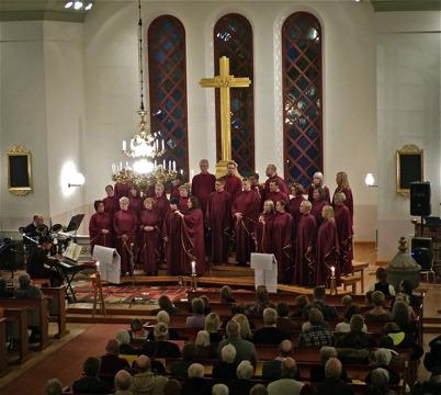 26 oktober 2013 - kören Holy Inspiration bjöd på jubileumskonsert i Västra Fågelviks kyrka när kören fyllde 10 år.