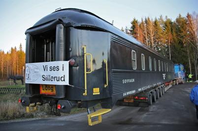 13 november 2013 - i Sillerud anlände en av SJ:s sovvagnar till Silleruds station.