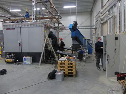 4 december 2013 - så var det dag för driftsättning av nya fjärrvärmecentralen.