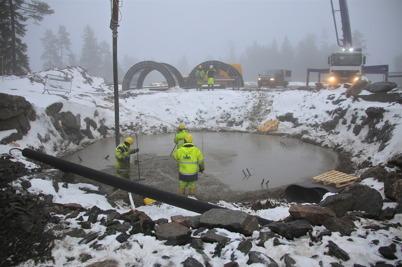 10 december 2013 - i Furskog och Mölnerud pågick byggnation av vindkraftsparker.
