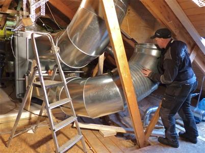 19 december 2013 - Församlingshemmet i Töcksfors fick nytt ventilationssystem.