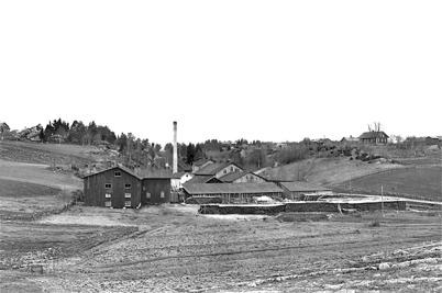 Hånsfors Bruk, pappersfabriken i Hån. Bild från 1910.