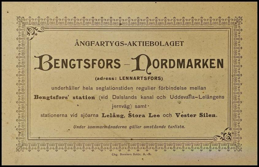 Dokument från Thore Johansson Töcksfors.