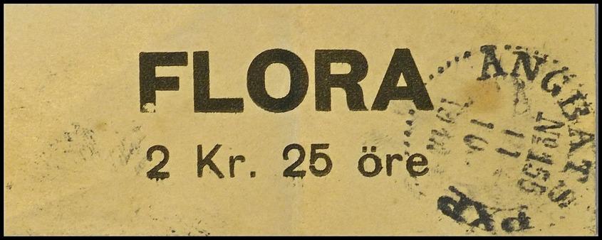 Biljett Ångbåten Flora - dokument från Thore Johansson / Sven Emsell Töcksfors.