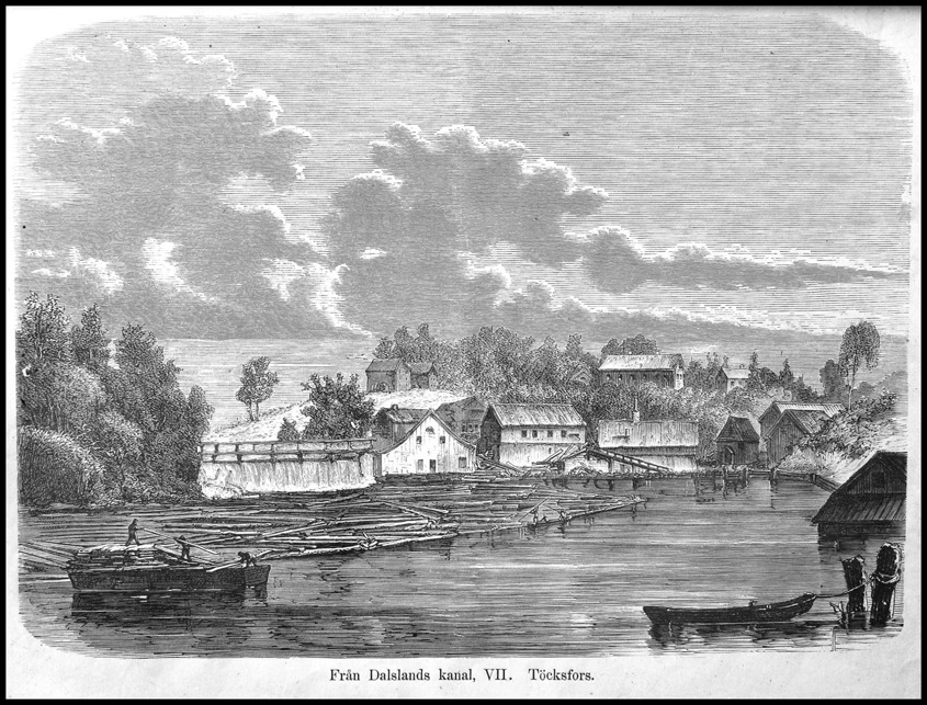 Bruket i Töcksfors - träsnitt från 1865