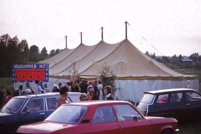 Juni 1975 - Missionstältet i Töcksfors.