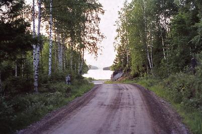 Juni 1975 - Sandavägen vid Torsviken.