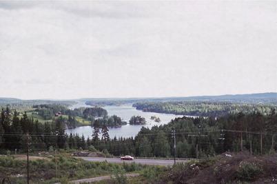 Juni 1975 - Utsikten över sjön Foxen.