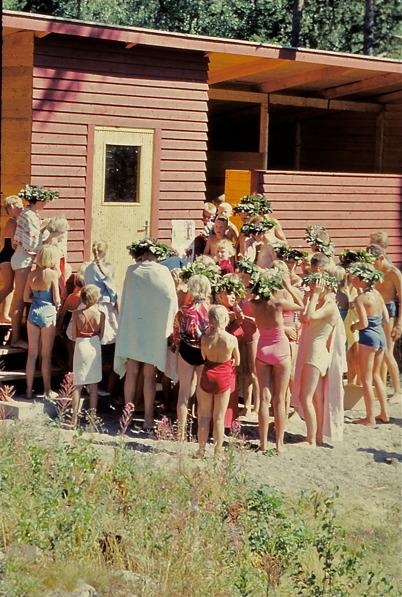 1958 - avslutning i simskolan.