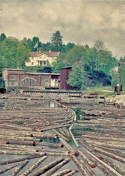 1958 - gamla hamnkranen i höger bildkant.