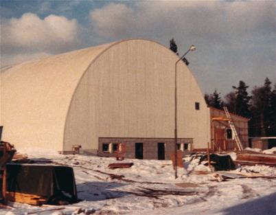 Byggnation av Sporthallen i Töcksfors.