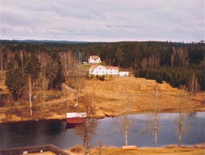 Utsikt från kyrktornet mot Elgerud.