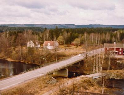 Utsikt från kyrktornet mot Nordmarksstugan.