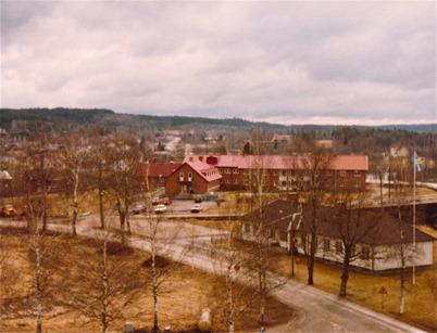 Utsikt från kyrktornet mot Solgården.