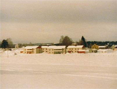 Nya bebyggelsen vid norra delen av Bögatan.