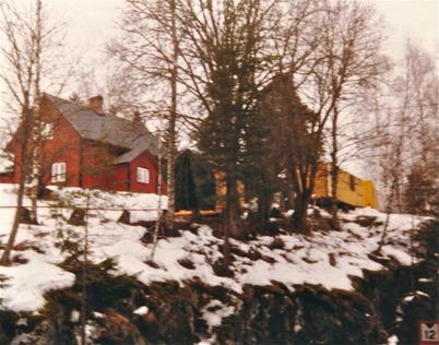 Slussvaktarbostaden Gläntan vid nedre slussen.