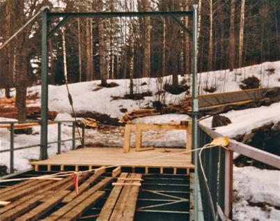 Renovering av bron vid nedre slussen.
