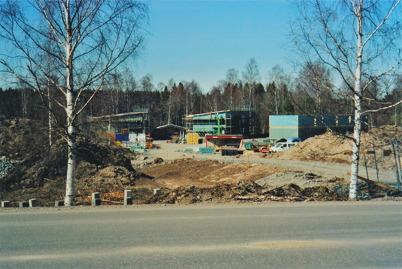 Byggnation av bostadshusen  vid övre slussen 2006.