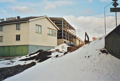 Utbyggnad av Lågprisvaruhuset Gränslöst 2008.