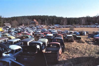 Bilskroten i Båstnäs 1978.