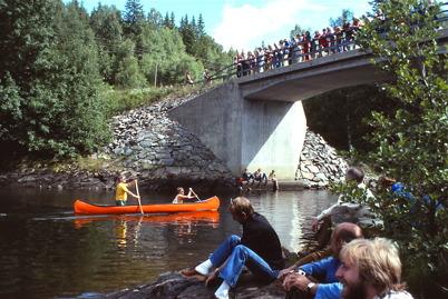 Kanottävling i samband med Töcksmarksveckan 1979.