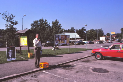 Folkpartimöte på torget 1979.