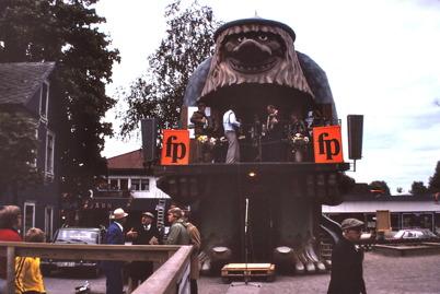 Folkpartimöte vid Trollet i Årjäng 1979.