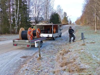5 januari 2015 - I Töcksfors byggdes fibernät för bredband.