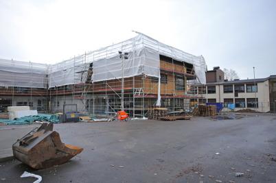 8 januari 2015 - I Årjäng gick arbetet med bygget av nya högstadieskolan på högfart.