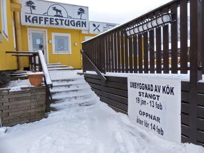 21 januari 2015 - Kaffestugan i Töcksfors centrum valde att stänga en tid för att bygga om.