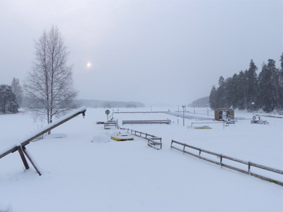 22 januari 2015 - Vintern tog ett grepp om Sandviken.