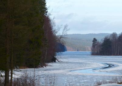 12 februari 2015 - På Torsviken såg isen ut att försvinna.