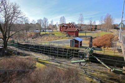5 mars 2015 - Området vid övre slussen i Töcksfors skulle snart få ett nytt utseende.