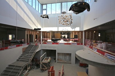 9 mars 2015 - Bygget av nya högstadieskolan i Årjäng var inne i en slutfas.