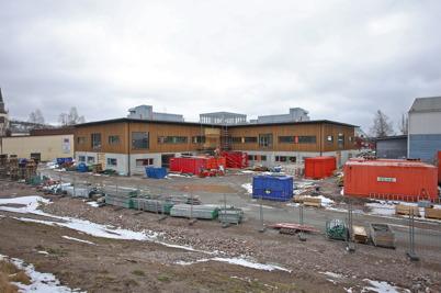 27 mars 2015 - I Årjäng fortsatte arbetet med färdigställande av Nordmarkens skola.