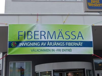 25 april 2015 - I Årjäng  var det dags att inviga fibernätet.
