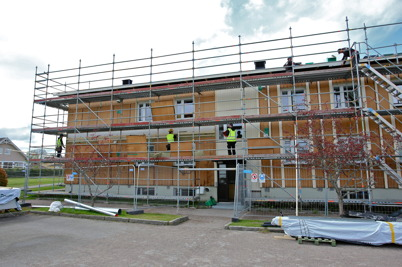 18 maj 2015 - Och vid Västra Torggatan 2 fortsatte renoveringsarbetet.