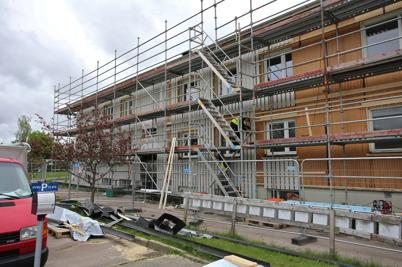 28 maj 2015 - Och så fortsatte renoveringen av fastigheten Västra Torggatan 2.