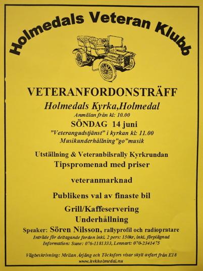 14 juni 2015 - I Holmedal arrangerades veteranfordonsträff.